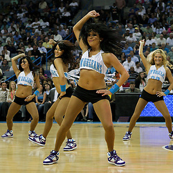 08 April 2009: New Orleans Hornets Honeybees NBA dance team performs during a NBA game between the New Orleans Hornets and the Phoenix Suns at the New Orleans Arena in New Orleans, Louisiana.