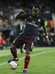 May 9, 2019 - Valencia, Valencia, Spain - Lacazette of Arsenal in action during UEFA Europa League football match, between Valencia and Arsenal, May 09th, in Mestalla stadium in Valencia, Spain. (Credit Image: © AFP7 via ZUMA Wire)