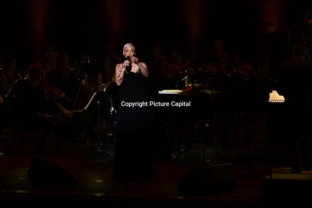Mariza, ComIH, born Marisa dos Reis Nunes, is a popular Portuguese fado singer preforms at Jazz Voice - Festival opening gala at Royal Festival Hall on 16 Nov 2018, London, UK.