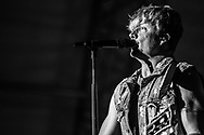 Samu Haber of Finnish rock band Sunrise Avenue at Stadtfest Ludwigshafen