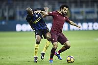 Geoffrey Kondogbia, Mohamed Salah<br /> Milano 26-02-2017 Football Calcio serie A 2016/2017 Inter - AS Roma foto Image Sport/Insidefoto
