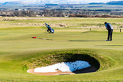 First green at  Gullane Golf Club course number 1 in East Lothian, Scotland, united Kingdom