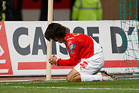 FOOTBALL - FRENCH CUP 2009/2010 - 1/16 FINAL - AS MONACO v OLYMPIQUE LYONNAIS - 24/01/2010 - PHOTO PHILIPPE LAURENSON / DPPI - JOY CHU YOUNG PARK AFTER HIS GOAL (ASM)