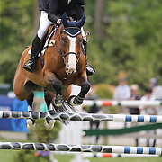Brianne Goutal riding Rebeca LS in action during the $35,000 Grand Prix of North Salem presented by Karina Brez Jewelry during the Old Salem Farm Spring Horse Show, North Salem, New York, USA. 15th May 2015. Photo Tim Clayton