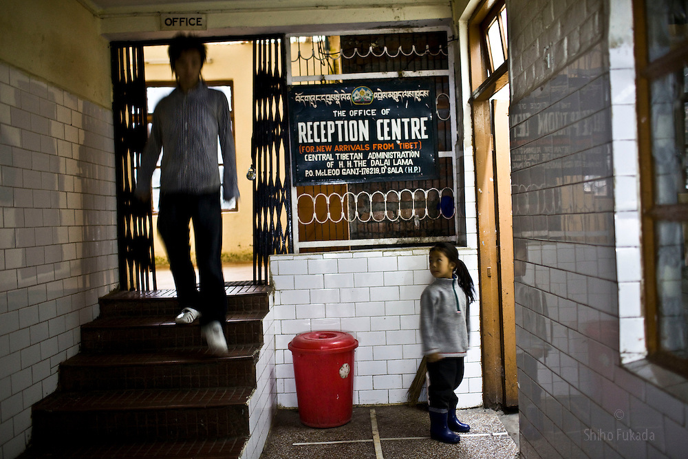 Tibetan refugees are seen at Reception Center, a temporary shelter for newly arrived Tibetan refugees in McLeod Ganj, Dharamsala, India, where the Dalai Lama settled after fleeing Tibet in 1959 after a failed uprising against Chinese rule, May 29, 2009.