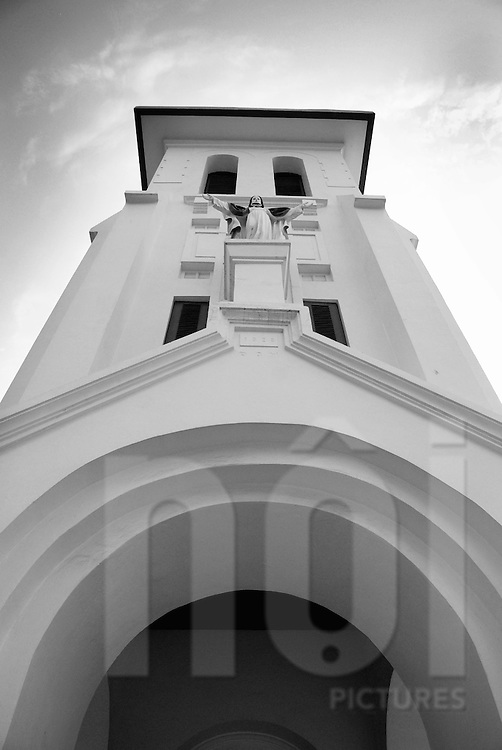 Frontage of a church in Vientiane, Laos, Asia