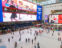 The Ice Rink inside the Dubai Mall, Dubai, United Arab Emirates.