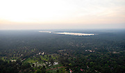Aerial view of East Baray, east of Angkor Wat, Siem Reap, Cambodia.