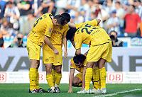 Fotball<br /> Tyskland<br /> Foto: Witters/Digitalsport<br /> NORWAY ONLY<br /> <br /> 04.04.2009<br /> <br /> Jubel 1:3 v.l. Sebastian Kehl, Young-Pyo Lee, Torschuetze Nelson Valdez, Patrick Owomoyela Dortmund<br /> Bundesliga Hertha BSC Berlin - Borussia Dortmund 1:3