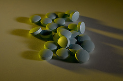 Pile of pills, drugs, or medications