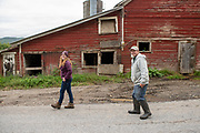 Doug Fuller and  his daugther Olivia on the family farm in Fort Ann, NY.