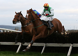 Crazywork De Vassy ridden by Mark Enright clears the last on the way to winning the Toals Bookmakers Handicap Steeplechase during day one of the Down Royal festival at Down Royal racecourse.
