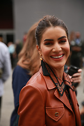 September 12, 2018 - New York, New York, United States - Camilla Coelho attends the Coach 1941 Runway Show during New York Fashion Week at Pier 94 on September 11, 2018 in New York City. (Credit Image: © Oleg Chebotarev/NurPhoto/ZUMA Press)