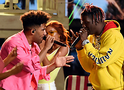 LOS ANGELES - AUGUST 13: Kyle and Lil Yachty perform onstage at FOX's 'Teen Choice 2017' at the Galen Center on August 13, 2017 in Los Angeles, California. (Photo by Frank Micelotta/FOX/PictureGroup) *** Please Use Credit from Credit Field ***