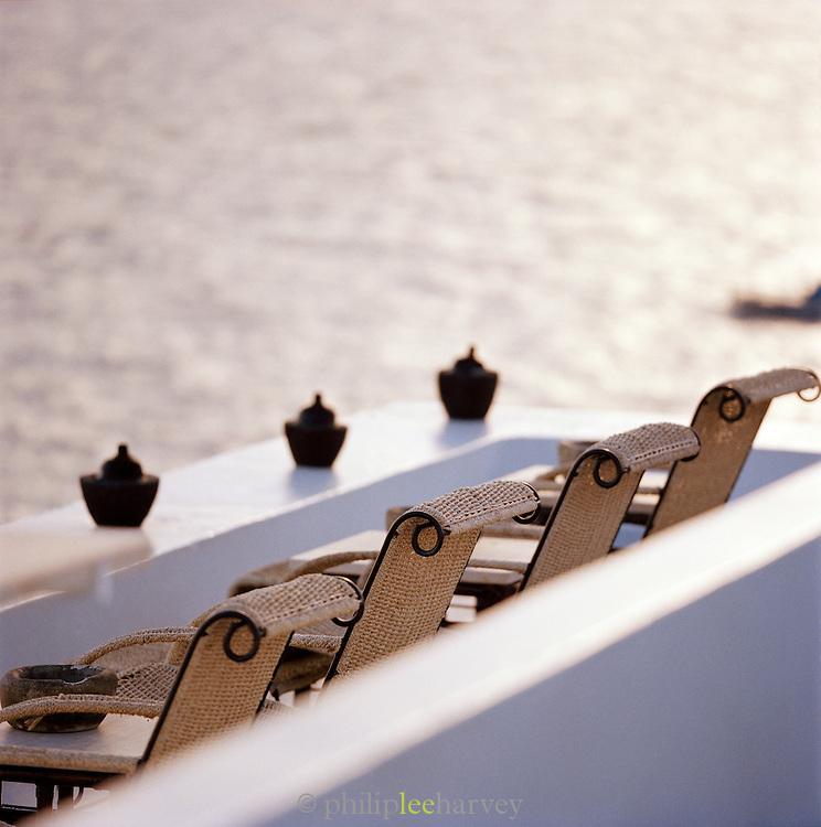 Chairs, Hotel Raya, Panarea, Aeolian Islands, Italy