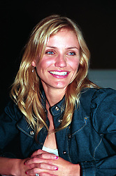 """Cameron Diaz posing for cameras at a press conference in Los Angeles to promote her movie """"The Sweetest Thing"""". Head Shot, Posed."""