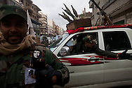 A local milita at a checkpoint  in Banghazi on Feb. 25, 2011.