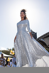 Fashion runway by Jacques Lagrange Couture at The Grand White 2019, Cape Town on 9 March.