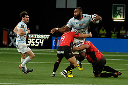 April 8, 2018 - Nanterre, Hauts de Seine, France - Racing 92 Lock LEONE NAKARAWA in action during the French rugby championship Top 14 match between Racing 92 and RC Toulon at U Arena Stadium in Nanterre - France..Racing 92 Won  17-13. (Credit Image: © Pierre Stevenin via ZUMA Wire)