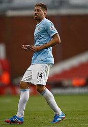 Manchester City's Javi Garcia - Photo mandatory by-line: Matt Bunn/JMP - Tel: Mobile: 07966 386802 14/09/2013 - SPORT - FOOTBALL -  Britannia Stadium - Stoke-On-Trent - Stoke City V Manchester City - Barclays Premier League