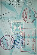 Stamped Israeli Passport