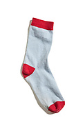 old sock, isolated on white background