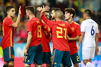 Spain's players celebrate goal during international friendly match. November 11,2017.(ALTERPHOTOS/Acero)
