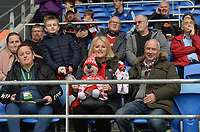 Fans, arrived at Cardifff City Staduim<br /> <br /> Photographer Ian Cook/CameraSport<br /> <br /> The EFL Sky Bet Championship - Cardiff City v Middlesbrough - Saturday 23rd October 2021 - Cardiff City Stadium - Cardiff<br /> <br /> World Copyright © 2020 CameraSport. All rights reserved. 43 Linden Ave. Countesthorpe. Leicester. England. LE8 5PG - Tel: +44 (0) 116 277 4147 - admin@camerasport.com - www.camerasport.com