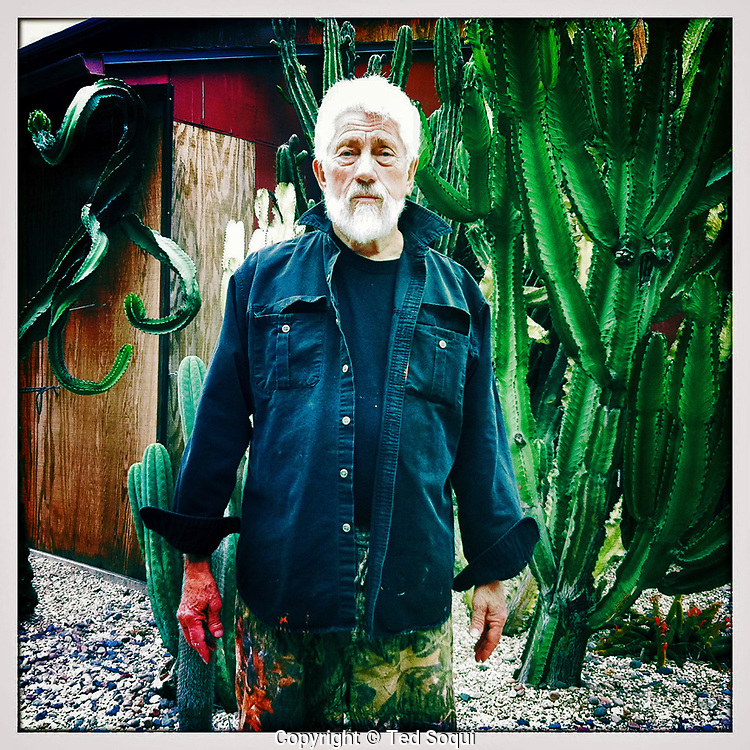 Los Angeles artist Ed Moses at his Venice home.