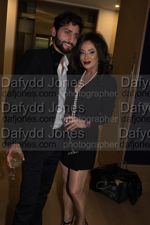 UMAIR KHALIL; NANCY DELL D'OLIO, Bonhams host a private view for their  forthcoming auction: Jackie Collins- A Life in Chapters' Bonhams, New Bond St.  3 May 2017.