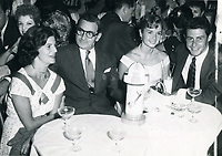 1956 L to R: Ellen Berlin (daughter), Irving Berlin, Debbie and Eddie Fisher at the Mocambo Nightclub