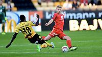 Fotball ,11. mai 2016 , EIiteserien ,Tippeligaen ,  Lillestrøm - Brann 1-0<br /> Sivert Heltne Nilsen , Brann<br /> Bonke Innocent , LSK