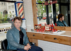Actor Luke Hemsworth and Old Spice team up to teach guys how to get a HAIR of Confidence at Made Man Barber Shop on May 11, 2017 in New York City, NY, USA. Photo by Dennis Van Tine/ABACAPRESS.COM