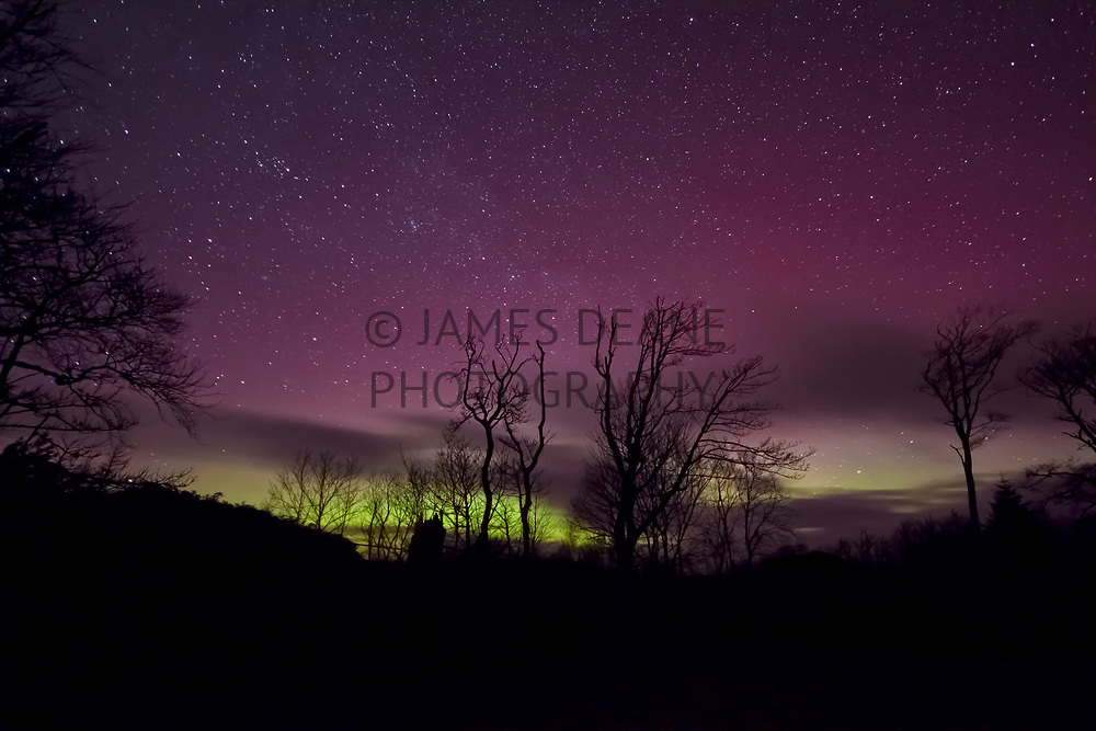 The Aurora seen from the show field at Bridgend