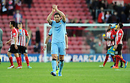 Frank Lampard of Manchester City thanks the fans at the end of the game<br /> - Barclays Premier League - Southampton vs Manchester City - St Mary's Stadium - Southampton - England - 30th November 2014 - Pic Robin Parker/Sportimage