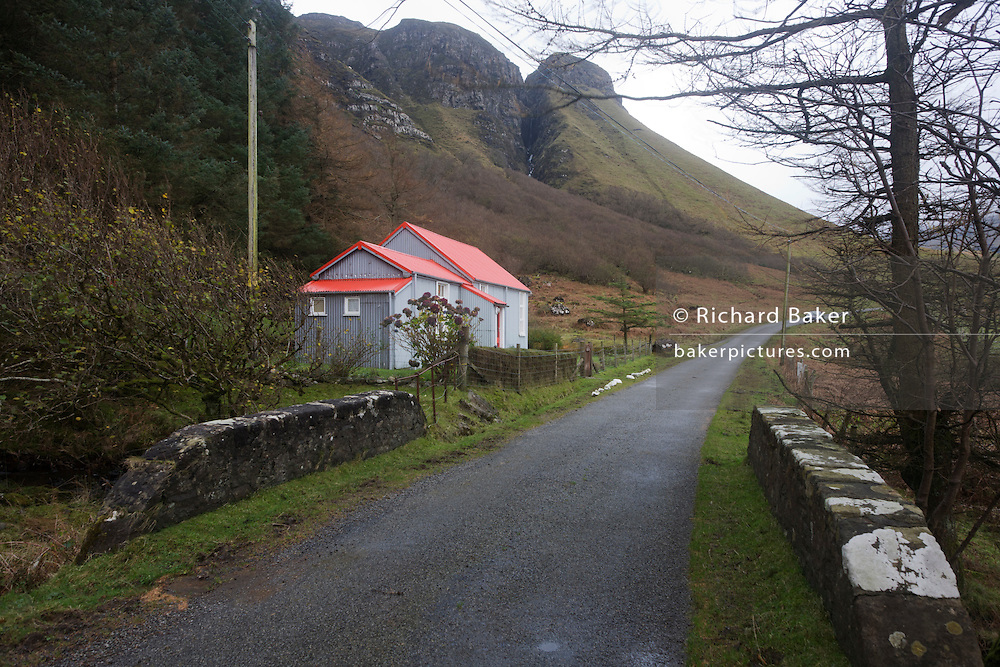 Former schoolhouse, now a self-catering cottage at Gribun, Isle of Mull, Scotland. (no web site found).
