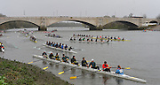 Putney. London,  Crews marshalling by Chiswick Bridge. 2015  Head of the River Race. Championship Course Putney to Mortlake.  ENGLAND. <br /> <br /> Sunday   29/03/2015<br /> <br /> [Mandatory Credit; Intersport-images]