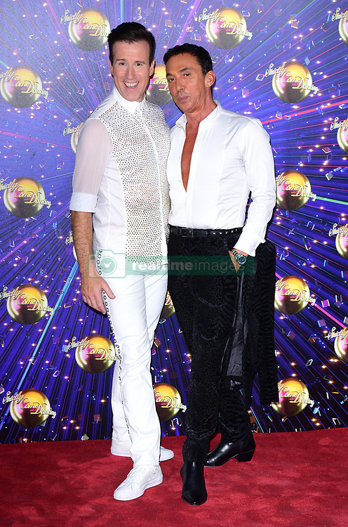 Anton Du Beke and Bruno Tonioli arriving at the red carpet launch of Strictly Come Dancing 2019, held at BBC TV Centre in London, UK.