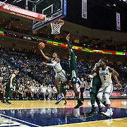 Nov 22  2018 Las Vegas, NV  U.S.A.  UCLA guard Jaylen Hands (4) drives to the hoop during the NCAA Men's Basketball Continental Tire Las Vegas Invitational between UCLA Bruins and the Michigan State Spartans 67-87 lost at The Orleans Arena Las Vegas, NV. Thurman James / CSM