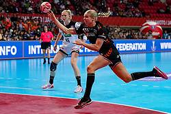 08-12-2019 JAP: Netherlands - Germany, Kumamoto<br /> First match Main Round Group1 at 24th IHF Women's Handball World Championship, Netherlands lost the first match against Germany with 23-25. / Danick Snelder #10 of Netherlands