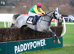 Whisperinthebreeze ridden by Paddy Kennedy go on to win the Abbey International Leopardstown Handicap Chase during day two of the Dublin Racing Festival at Leopardstown Racecourse.