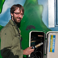 FILE IMAGE DATED 12/09/2009  OF  Ecoadventurer  Andy Pag to set off around the world in his bio truck modified to run on used cooking oil to spread awareness about climate change.  The British traveller 34, from Croydon, was arrested on January 11 2010 in Rajasthan, India, while sleeping in his converted school bus. He is accused of carrying a satellite phone without a licence or permission, and may face  up to ten years in prison according to India's new anti-terror laws..***Agreed Fee's Apply To All Image Use***.Marco Secchi /Xianpix. tel +44 (0) 771 7298571. e-mail ms@msecchi.com .www.marcosecchi.com