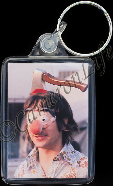 Keith Moon (axed) - Key Fob with image approx. 35mm x 50mm from 1970 Isle of Wight Music Festival exhibition on the front. The reverse has an exclusive CameronLife  1970 IW festival design