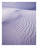 Blue pastel shades and abstract patterns of the white sands dunes in New Mexico