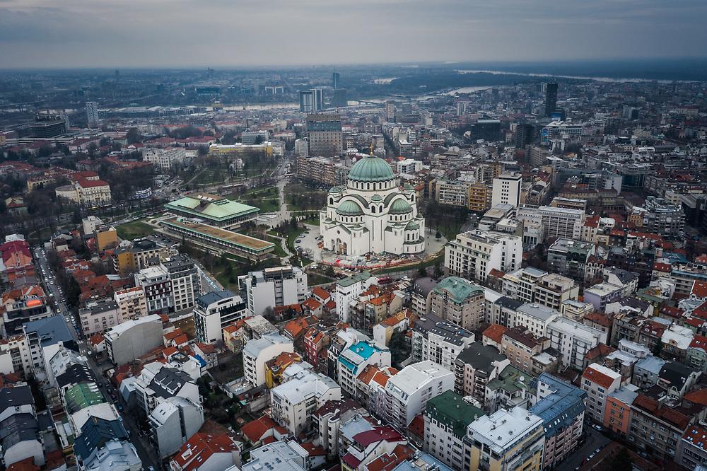 Temple of Saint Sava in Belgrade, Serbia