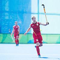 RIO DE JANEIRO  (Brazilië) -  during thede poulematch hockey men Belgium v Great Britain (4-1),  tijdens de Olympic Games 2016 <br /> Copyright Koen Suyk