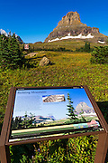 Interpretive sign at Logan Pass, Glacier National Park, Montana USA