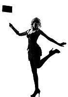stylish silhouette caucasian beautiful woman sexy  attitude behavior clothes full length on studio isolated white background