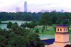 Galleria area skyline from Memorial Park in Houston, Texas.
