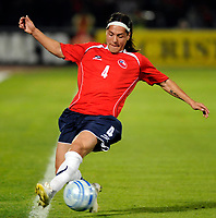 Chile win 1-0 over Argentina in their 2010 World Cup qualifying soccer match in Santiago, October 15, 2008.<br /> Chile player HUGO DROQUETT.<br /> © Dupla / PikoPress